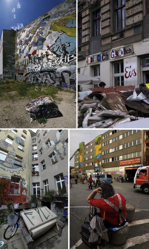 4 x Graffitiwand