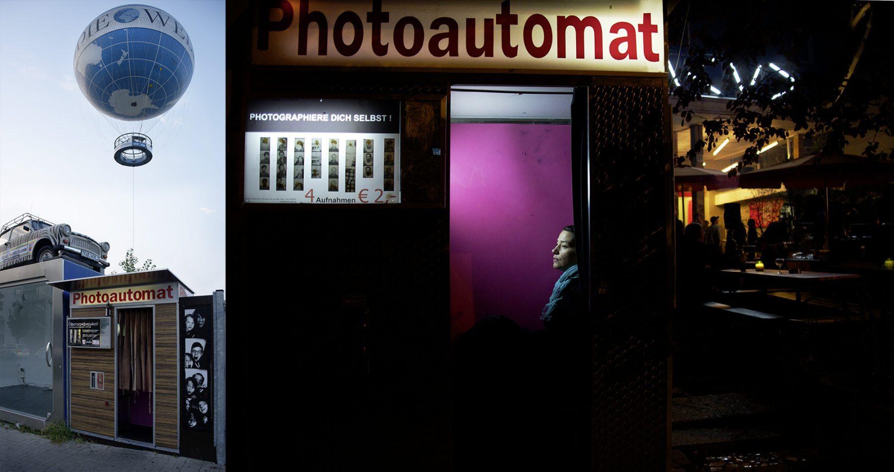 Berlin, Zimmerstraße, Heißluftballon, Photoautomat