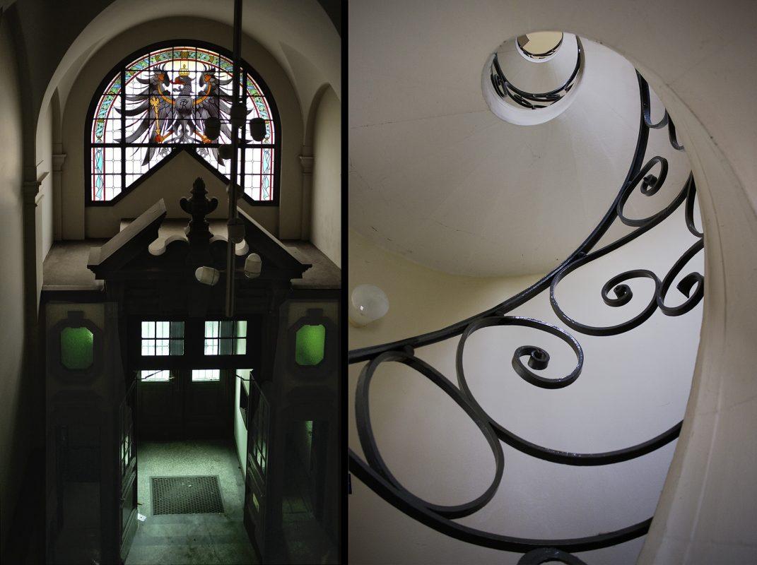 Berlin, Amtsgericht in Wilmersdorf, Gefängnistreppe