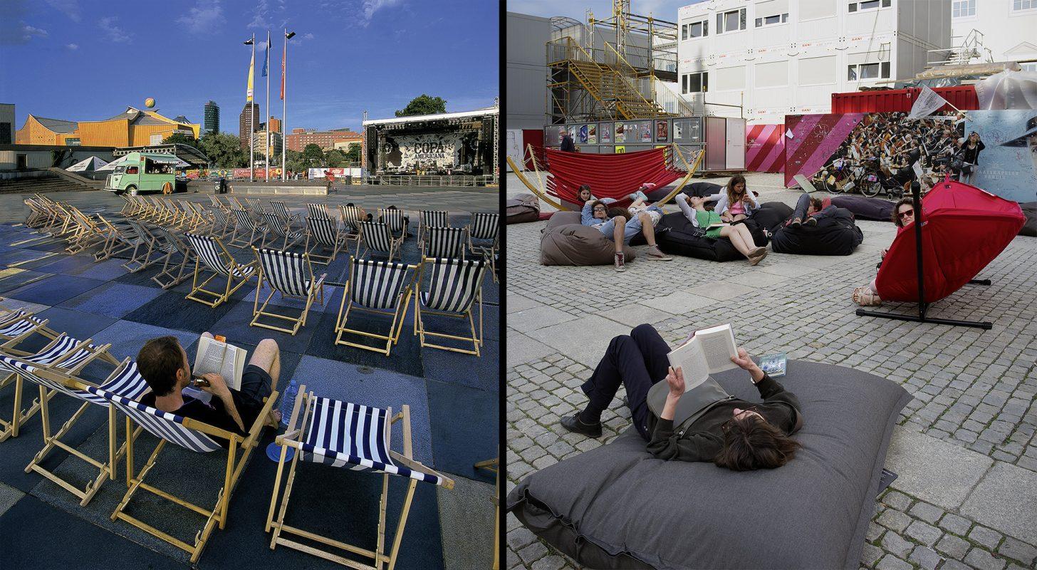 Kulturforum, Heimatklänge, Bebelplatz, Liegestühle, Lesewoche