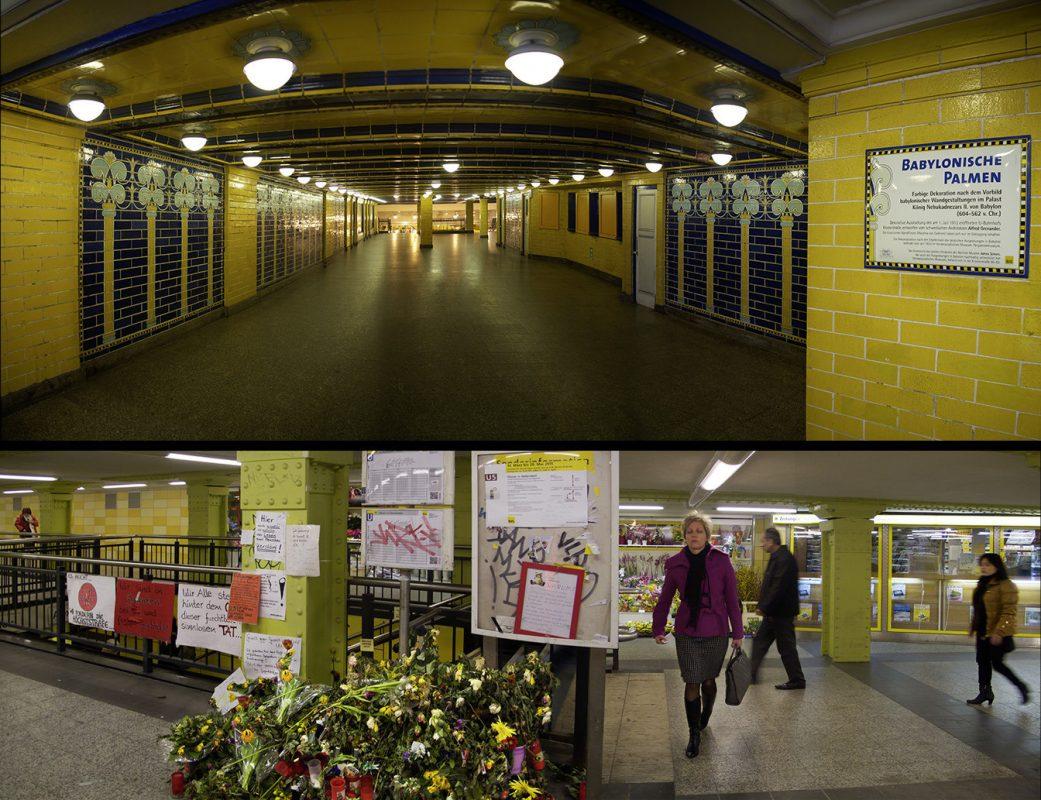 Berlin, U-Bahn Klosterstraße, U-Bahn Lichtenberg, Blumengrab