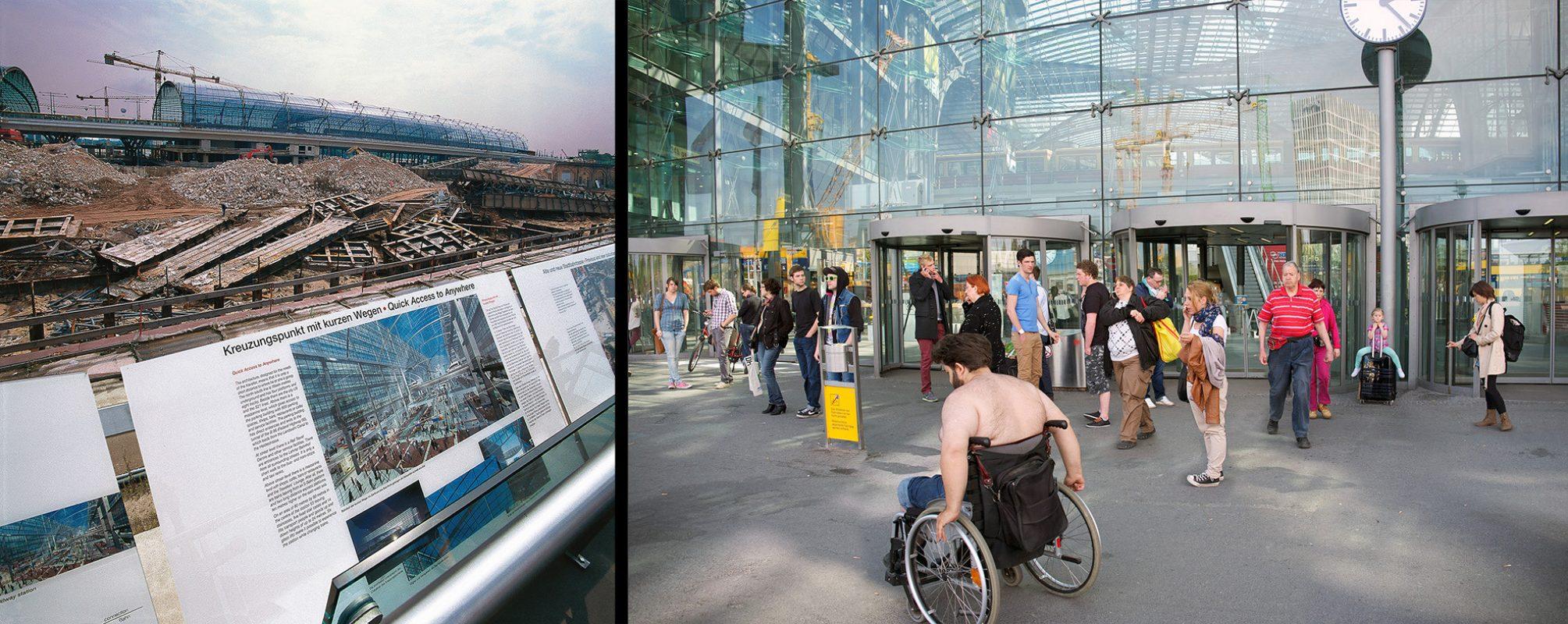 Berlin, Hauptbahnhof, kurze Wege, Rollstuhl