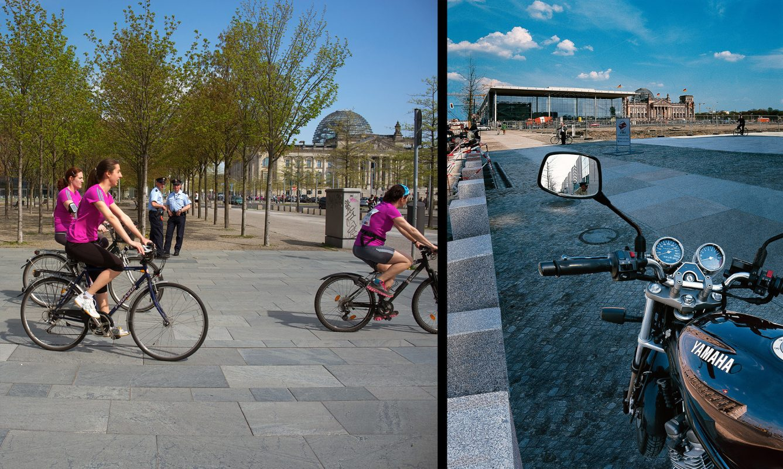 Yamaha, Motorrad, Fahrrad, Reichstag, Bundestag