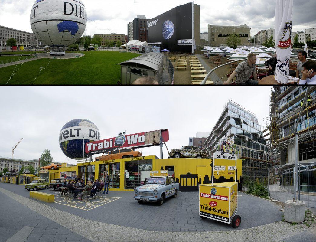 Berlin, Heißluftballon, Trabbiworld, Zimmerstraße