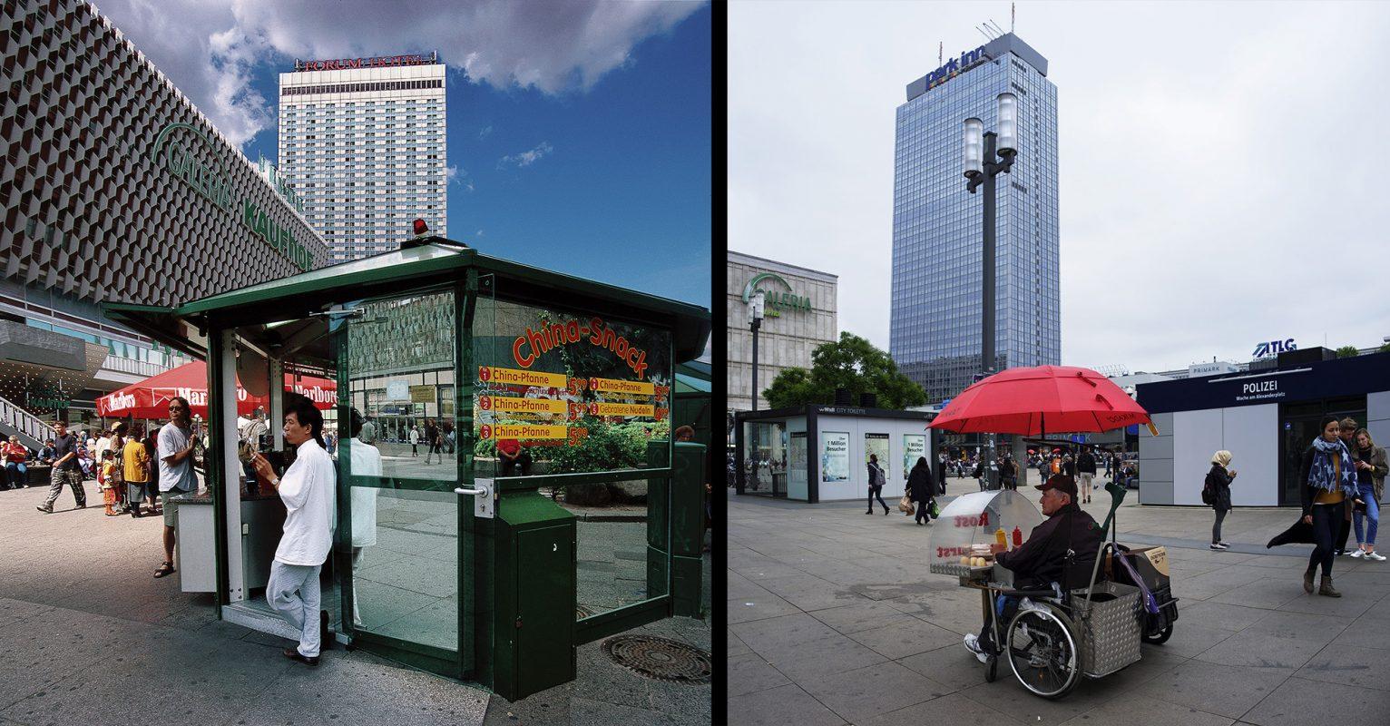 Berlin, Alexanderplatz, Chinaimbiss, Bratwurstverkäufer, Polizei, Galeria Kaufhof