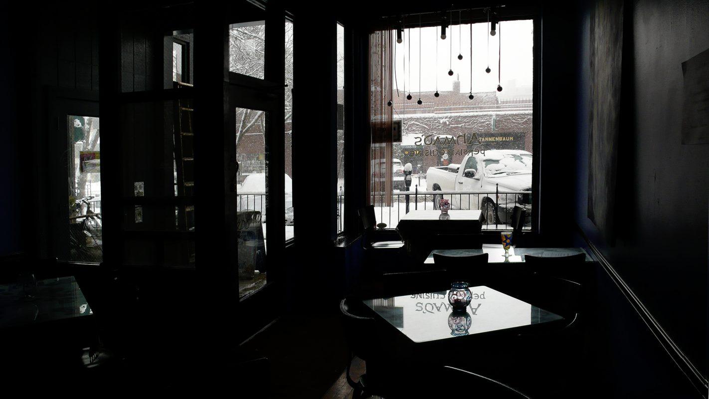 Restaurant, Schnee