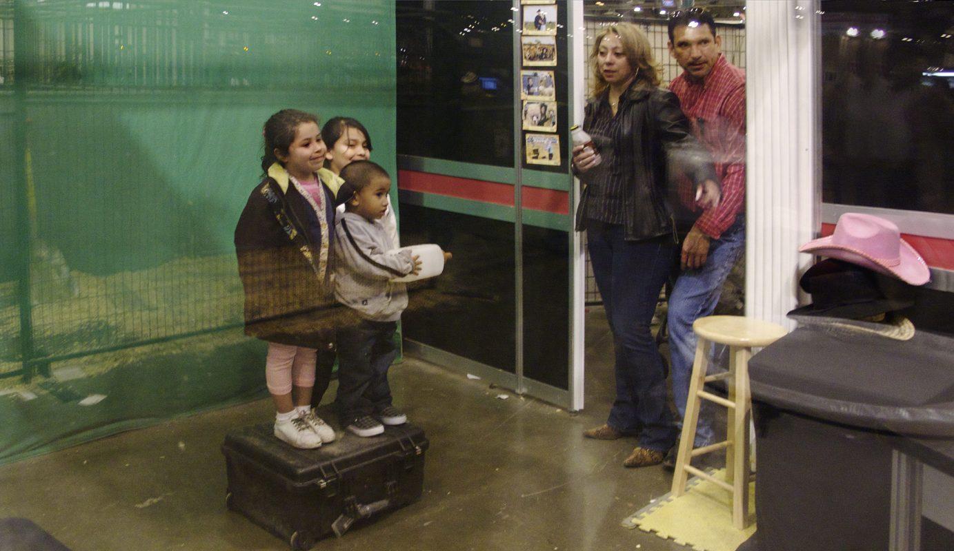 Houston Rodeo, Kinder fotografieren
