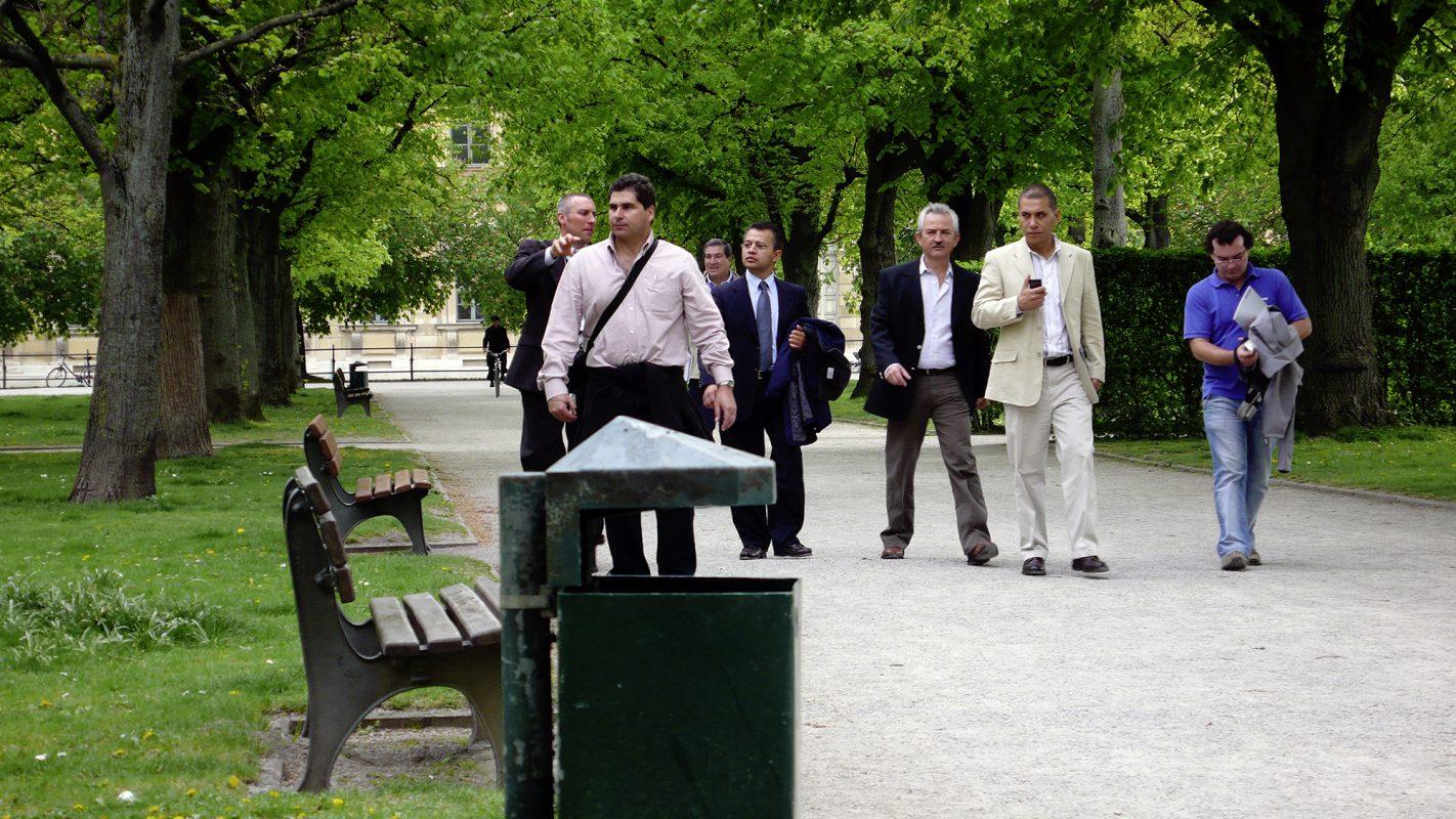 München, Hofgarten, Männergruppe