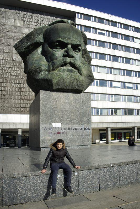 Chemnitz, Karl Marx, Junge, Denkmal