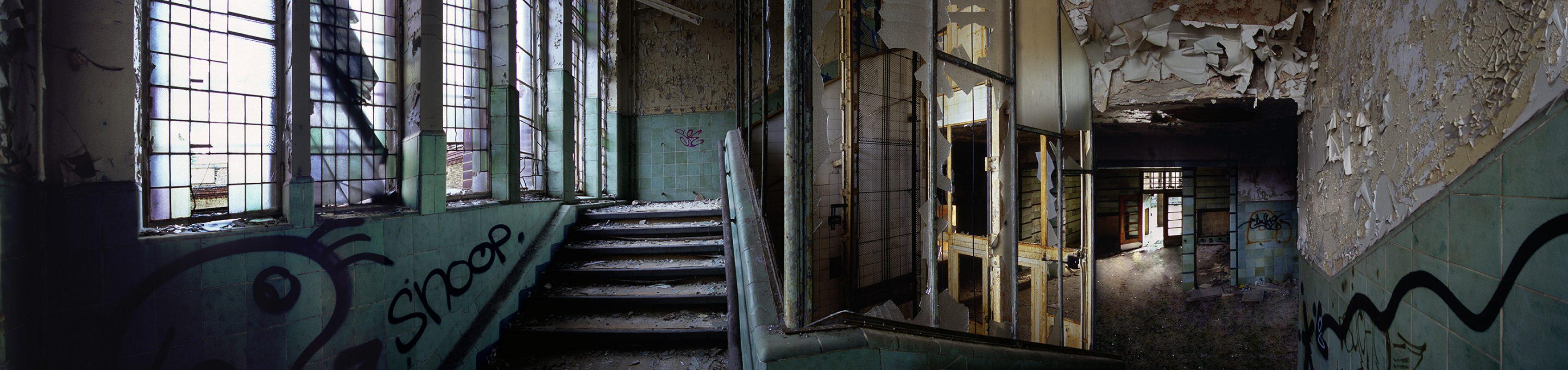 Beelitz-Heilstätten, grüner aufgang