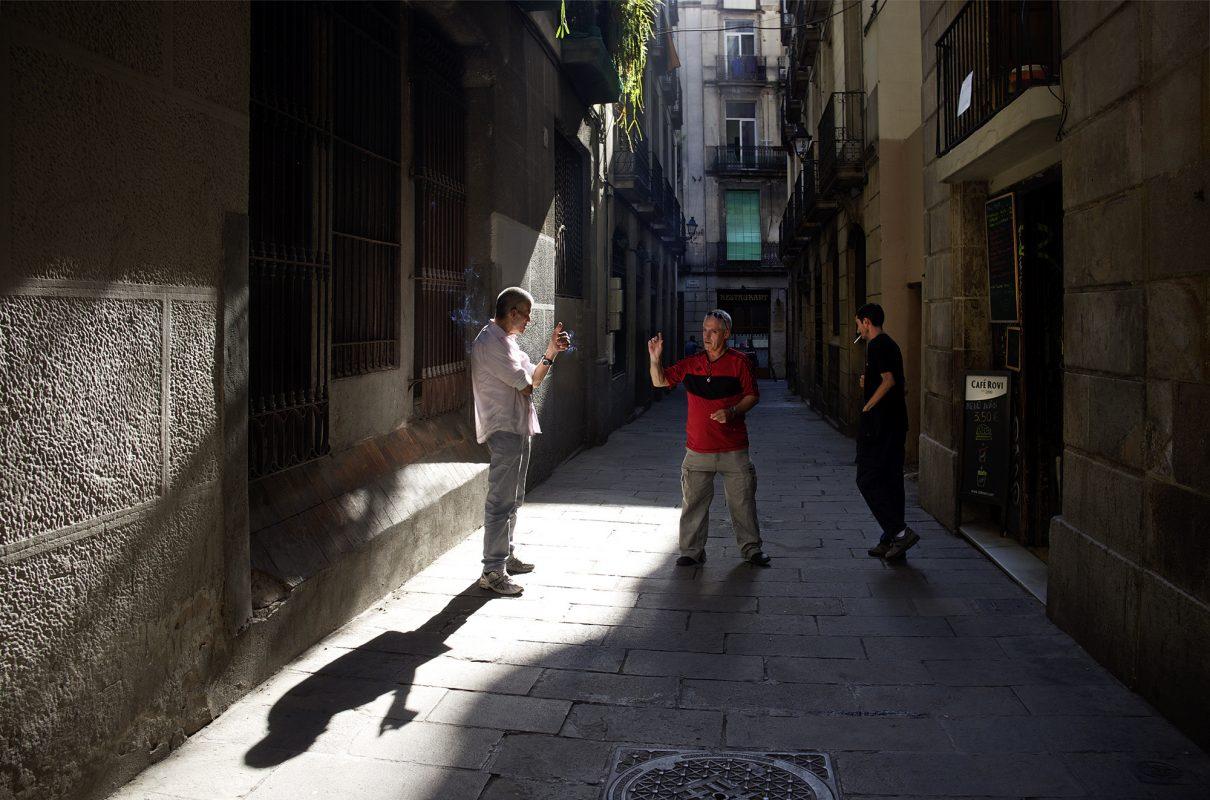 Barcelona, Männer, Diskutieren, Straße