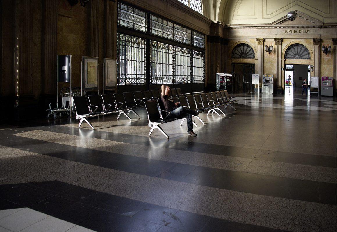 Barcelona, Estación de Francia, Mann allein