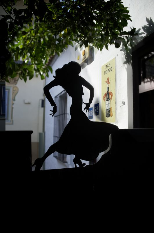 Barcelona, Poble Espanyol, Silhouette Tänzerin