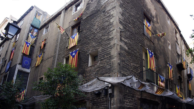 Barcelona, Katalanische Flaggen, Widerstand