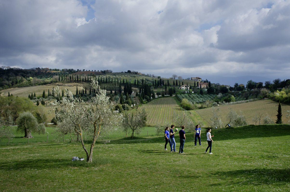Toskana, Landschaft, junge Menschen