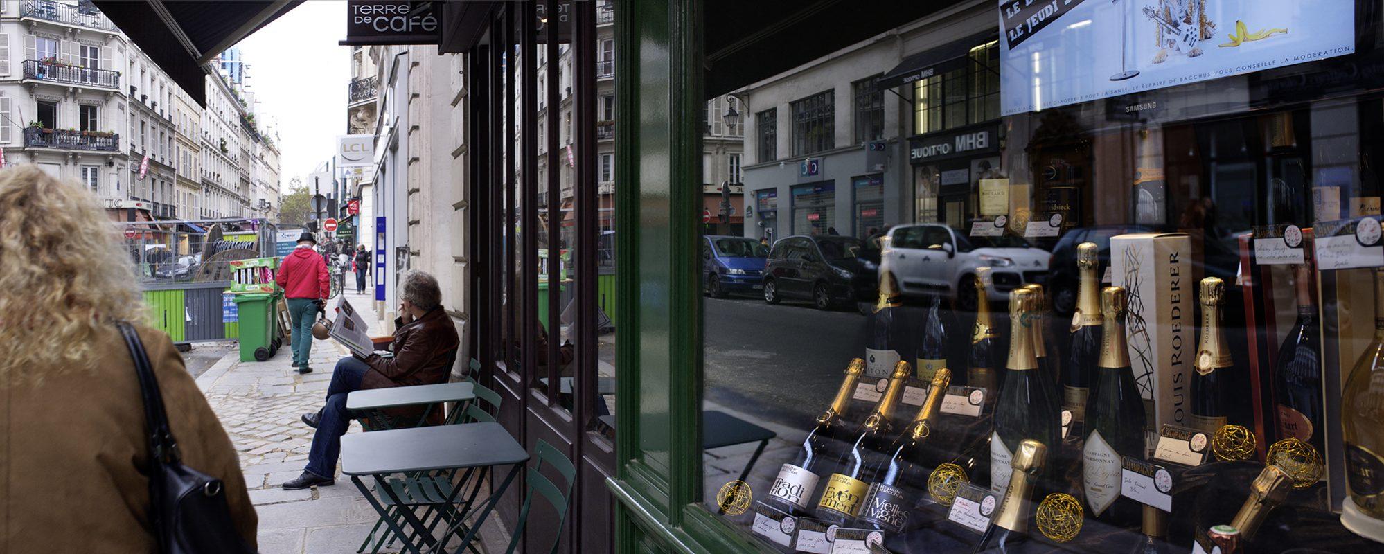 Paris, Café, Champagner