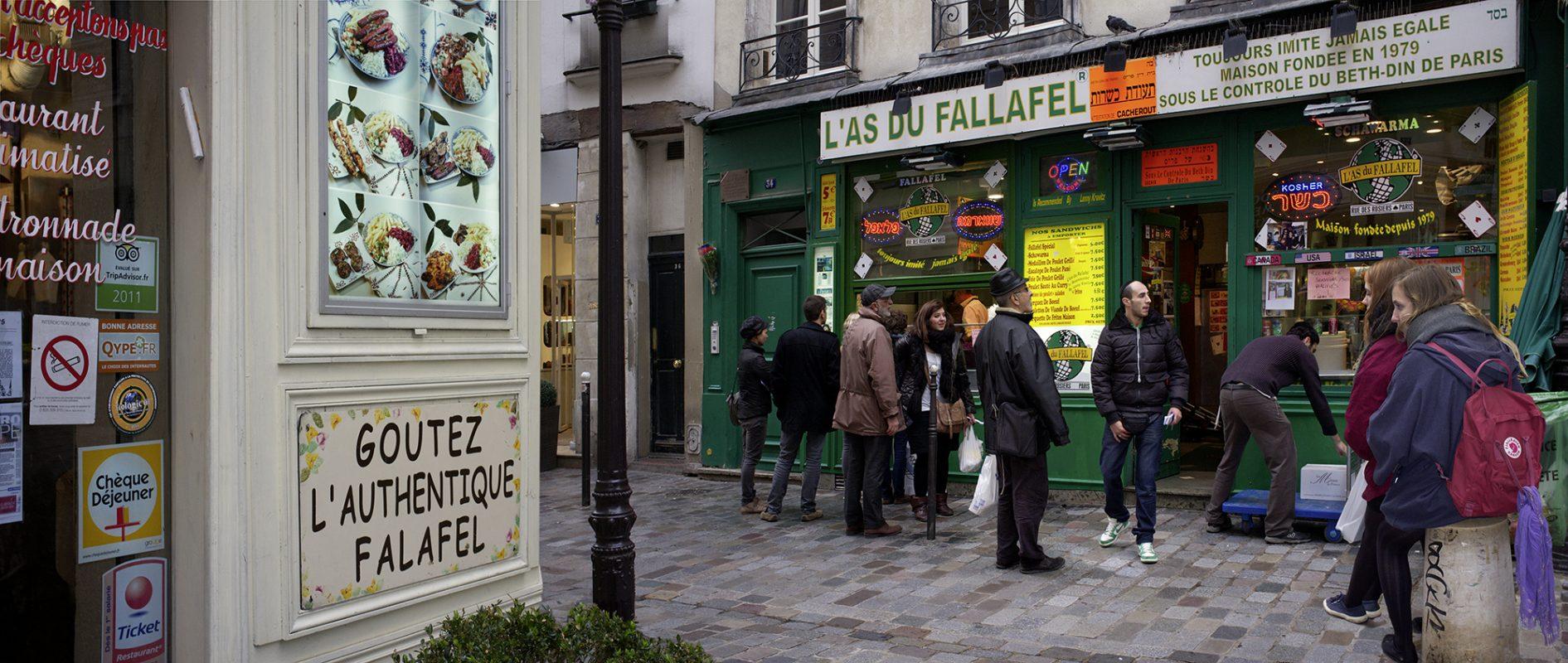 Rue de Rosiers, Marais, Fallafel