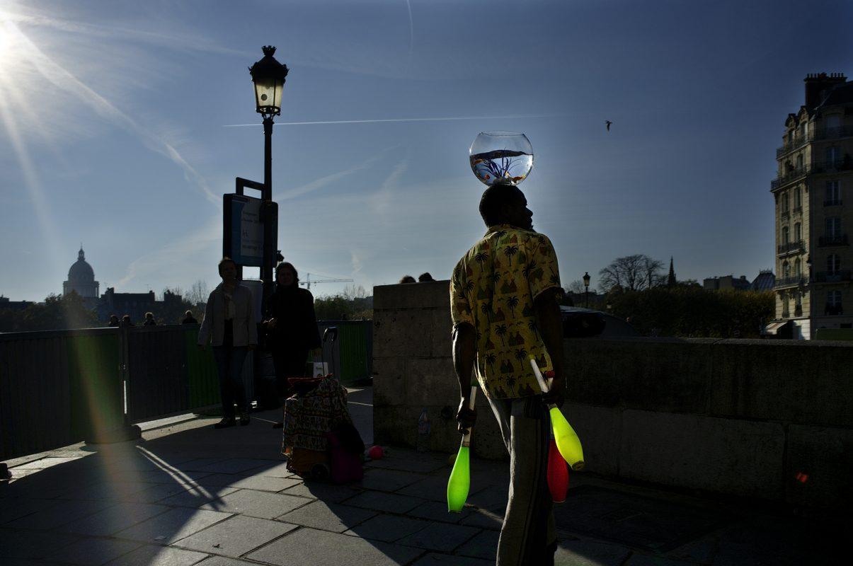Paris, Brücke, Gaukler, Jongleur