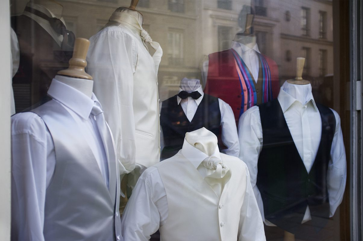 Paris, Hemden, Kragen, Schaufenster