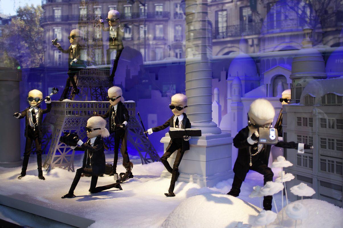 Paris, Lafayette, Karl Lagerfeld, Schaufensterpuppen