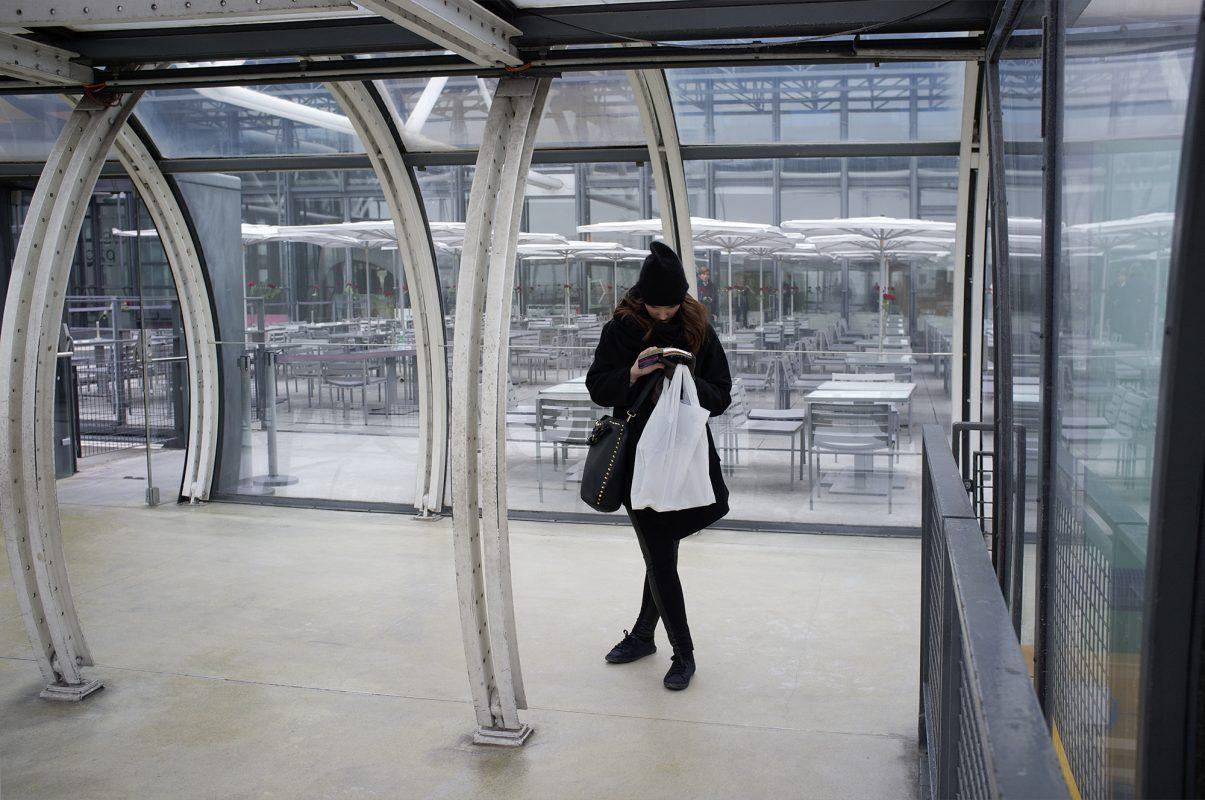 Centre George Pompidou, Besucherin