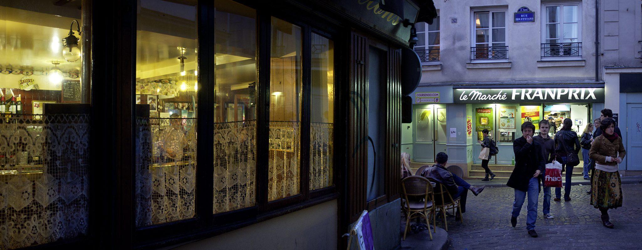 Rue Mouffetard, Abend