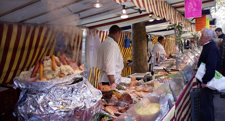 Paris, Sauerkraut und Würste, Markt