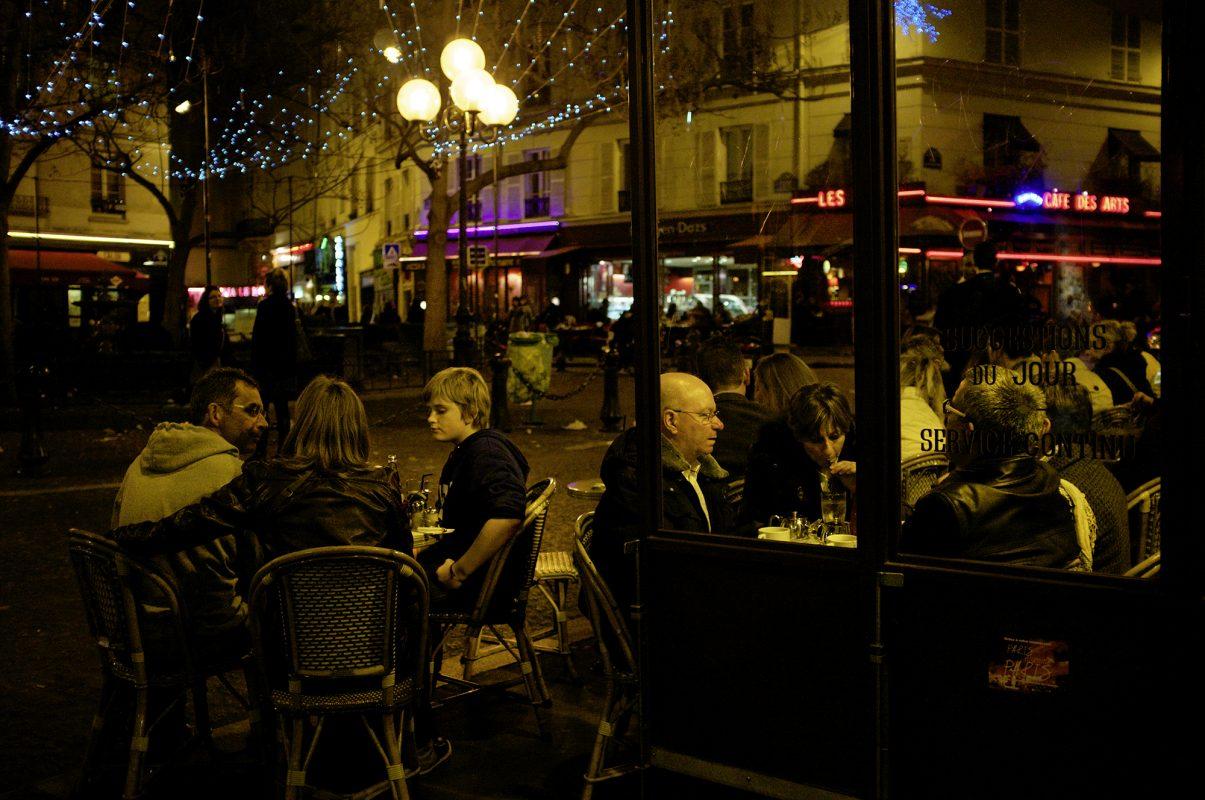Außen abend Cafe