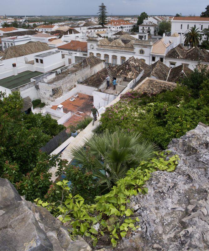 Portugal, Fuseta, Dächer