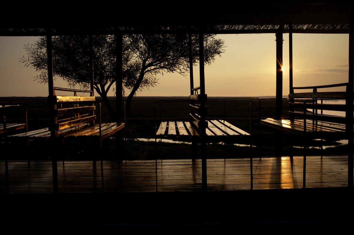 Sonnenuntergang Strandzug