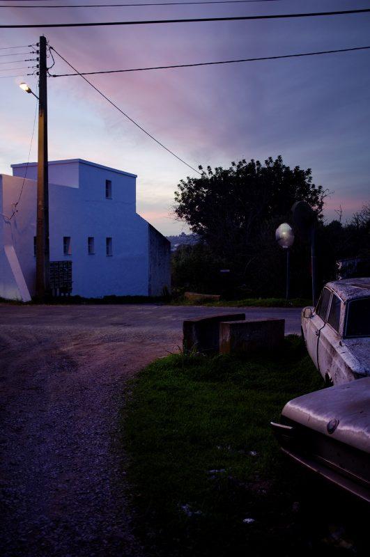 Sonnenuntergangalte Autos