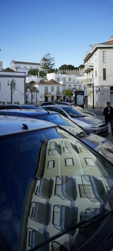 Portugal, Tavira, Auto, Spieglung