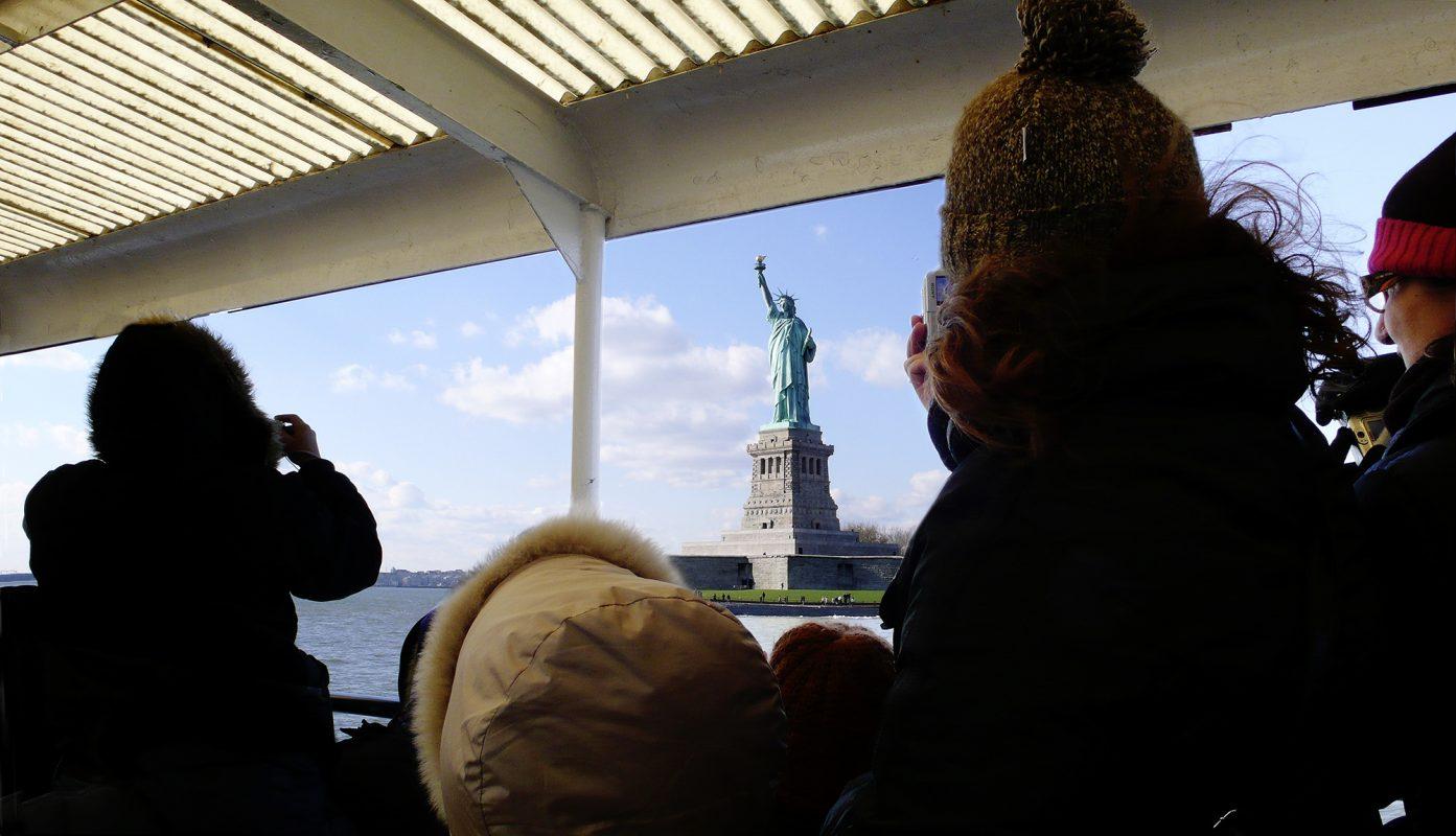 New York, Bootsfahrt, Freiheitsstatue