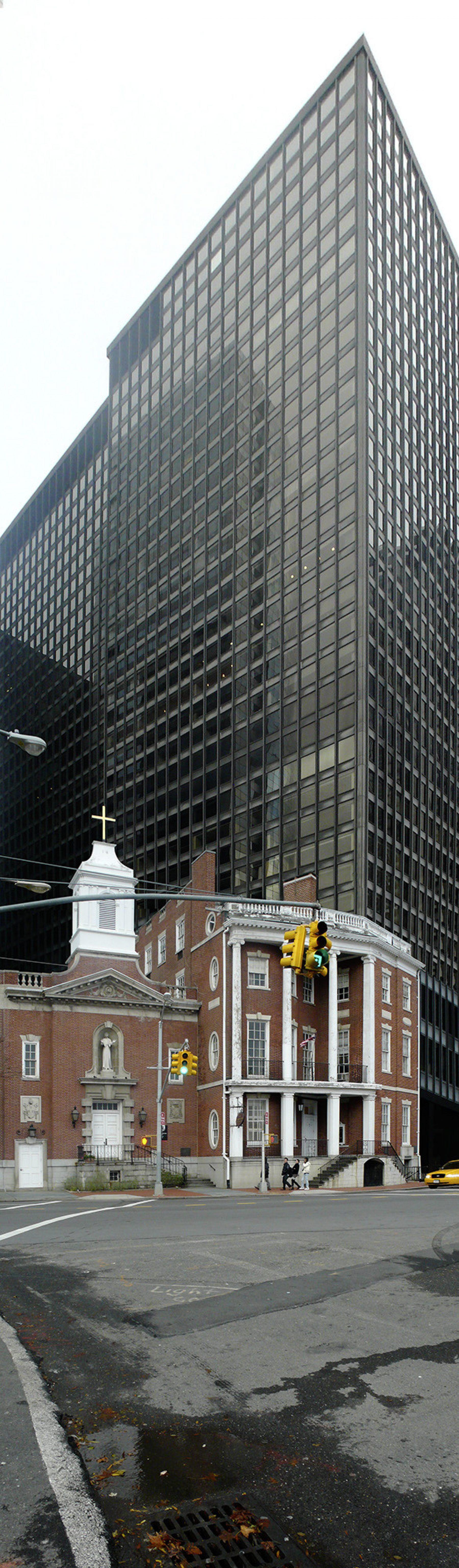 New York, Manhattan,Hochhaus, Backstein