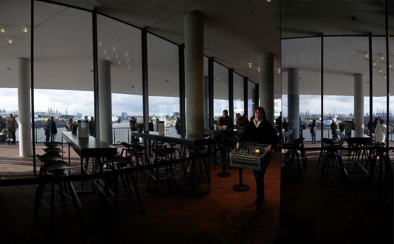 Hamburg, Elbphilharmonie, Ausblick Elphi