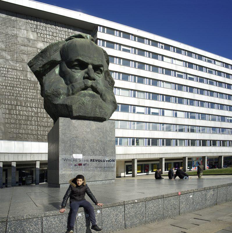 Chemnitz, Karl Marx, Jungendliche, Denkmal