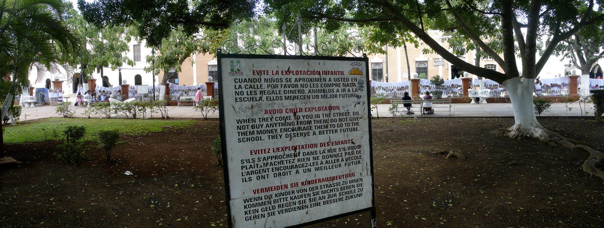 Mexiko, Oaxaca, Betteln, Warnung