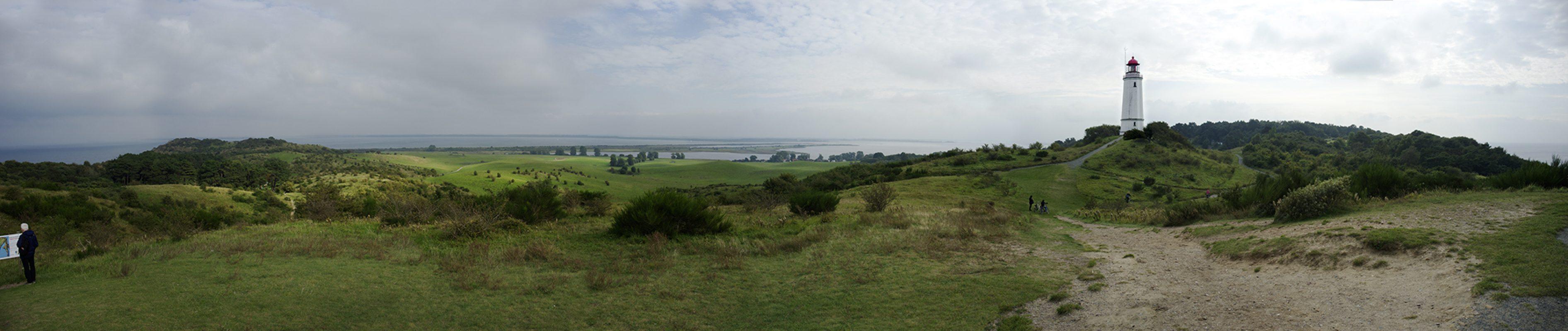 Hiddensee, Leuchtturm, Insel, Panorama